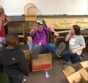Project-Based Learning in Science - Design a Cardboard Chair to Hold Mr. King