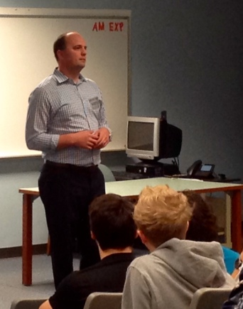 Mayor Fadness Speaks to Government Class