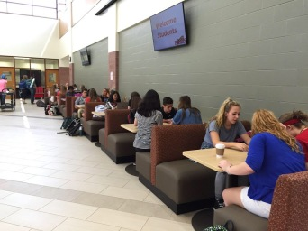 New CCA Learning Commons - Student Study Groups After School