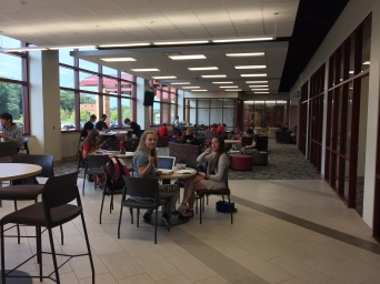 High School Students Study in CCA Learning Commons